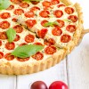 Tomato, Basil, and Goat Cheese Tart