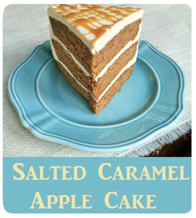 Salted Caramel Apple Cake - Ready to Yumble