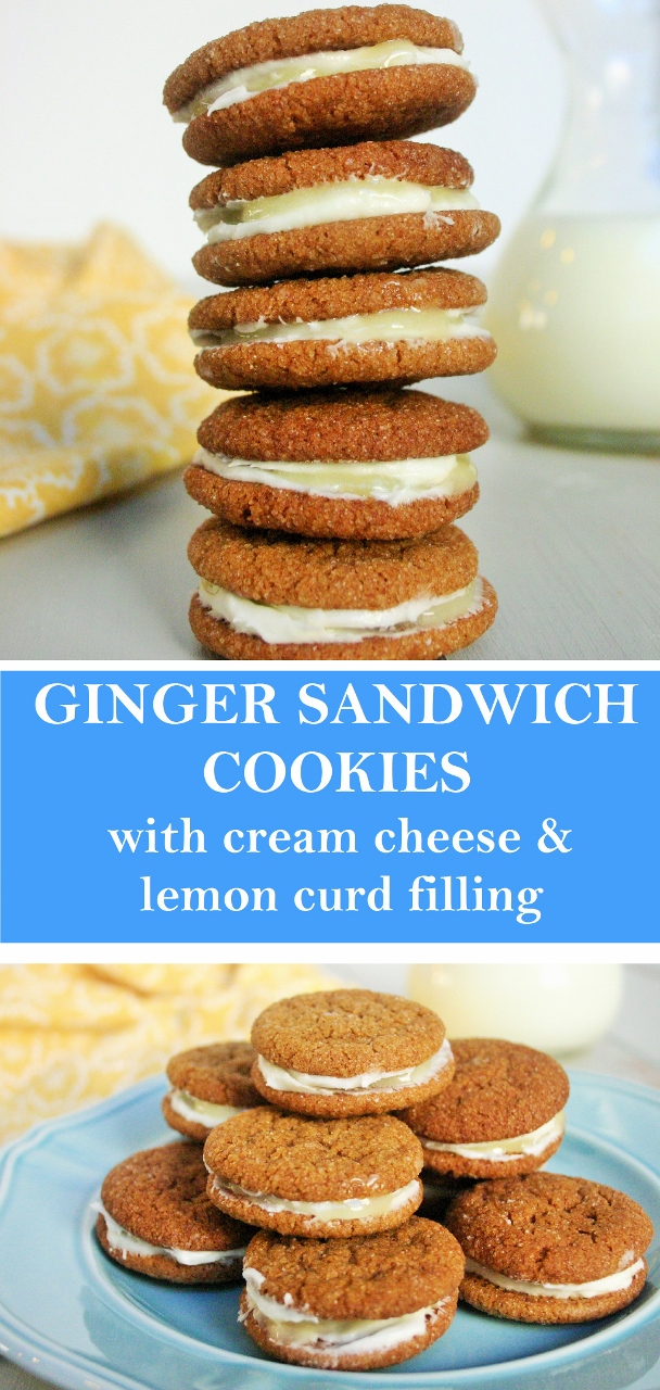 Ginger Sandwich Cookies with Cream Cheese and Lemon Curd Filling ...