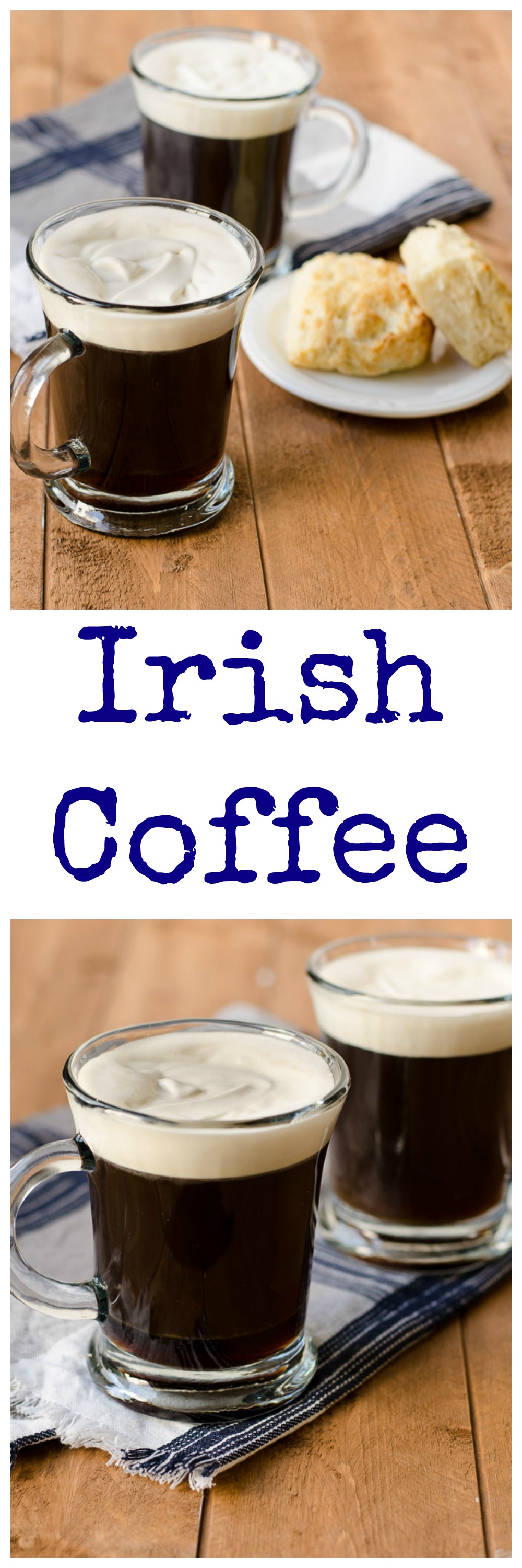 Irish coffee collage