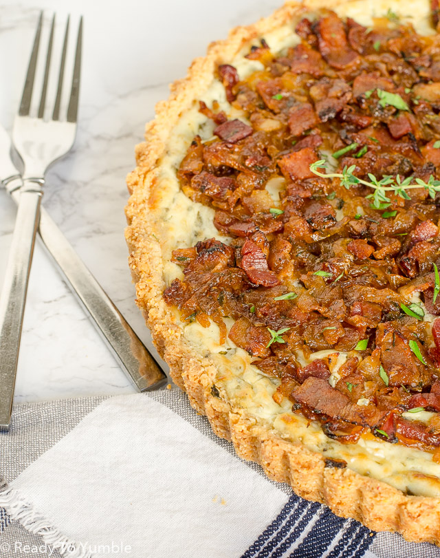 Caramelized Onion and Bacon Tart - Ready to Yumble